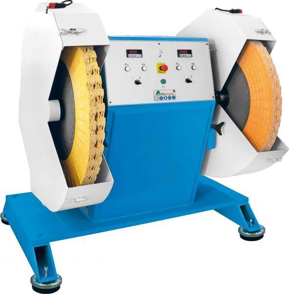 Aceti Doppelschleif- Poliermaschine mit 2 Frequenzumrichtern ART. 140
