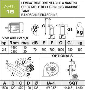 Bandschleifmaschine 120 mm Daten