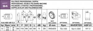 Poliermaschine Daten